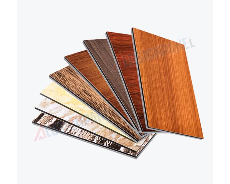 Panel compuesto de aluminio de madera y piedra