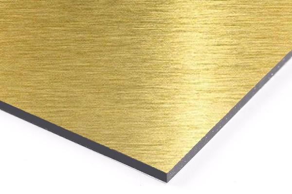 Panel compuesto de aluminio dorado cepillado