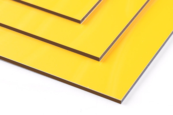 Panel compuesto de aluminio amarillo brillante SJ-8831
