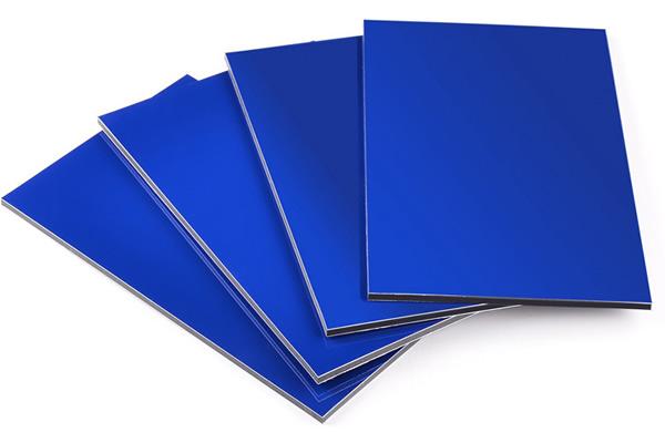 Panel compuesto de aluminio azul brillante SJ-8832